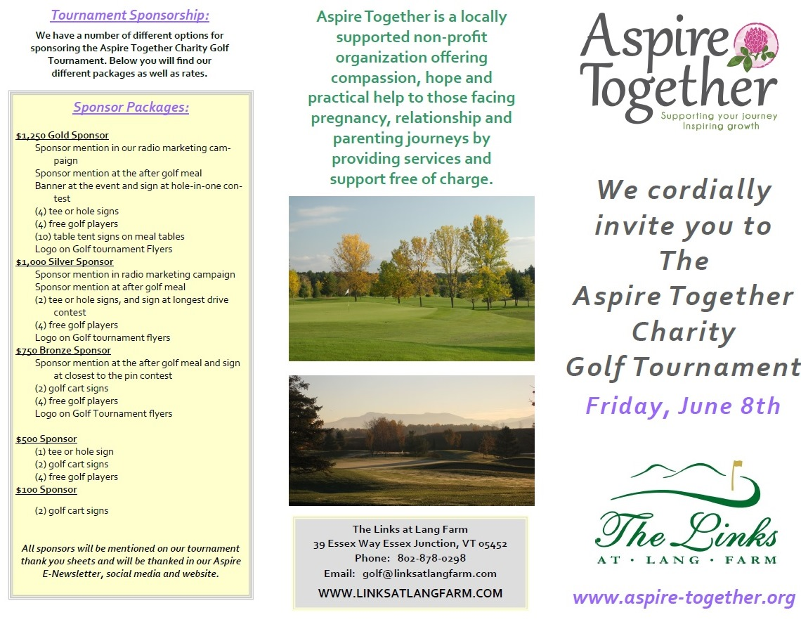 The  Aspire Together Charity  Golf Tournament @ The Links at Lang Farm | Essex | Vermont | United States